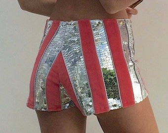 SALE // Sequin Shorts / festival wear / burning man / costume