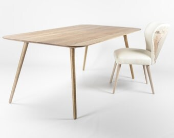 Dining table in solid oak modern mid century scandinavian