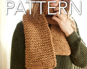 Big Stitch Garter Scarf Pattern // Beginner's Pattern // Chunky Scarf // Simply Maggie