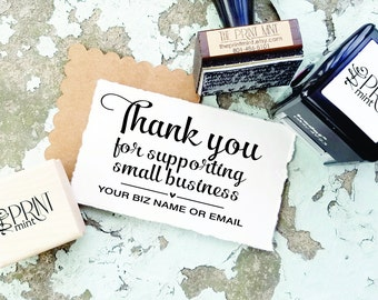 Thank You Stamp- Small Business Custom Stamp- Thank You for Your Business- Thanks for Supporting Small Business- Etsy Self-Inking CS-10307