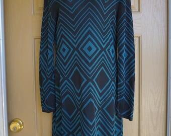 Trina Turk size L Large heavy knit dress 90s 1990s