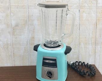 Midcentury Vintage Aqua  5-Speed Kenmore Blender, Working Vintage Blender. Bar Mixer