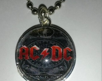 AC DC Music Handmade Charm Necklace