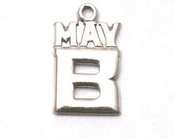 Sterling Silver May B Bracelet Charm