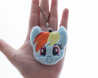 Rainbow Dash Plush Charm