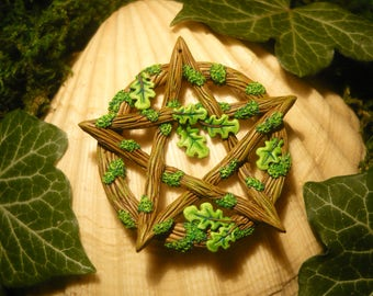 Pentacle of the Forestsoul - handcrafted Pendant