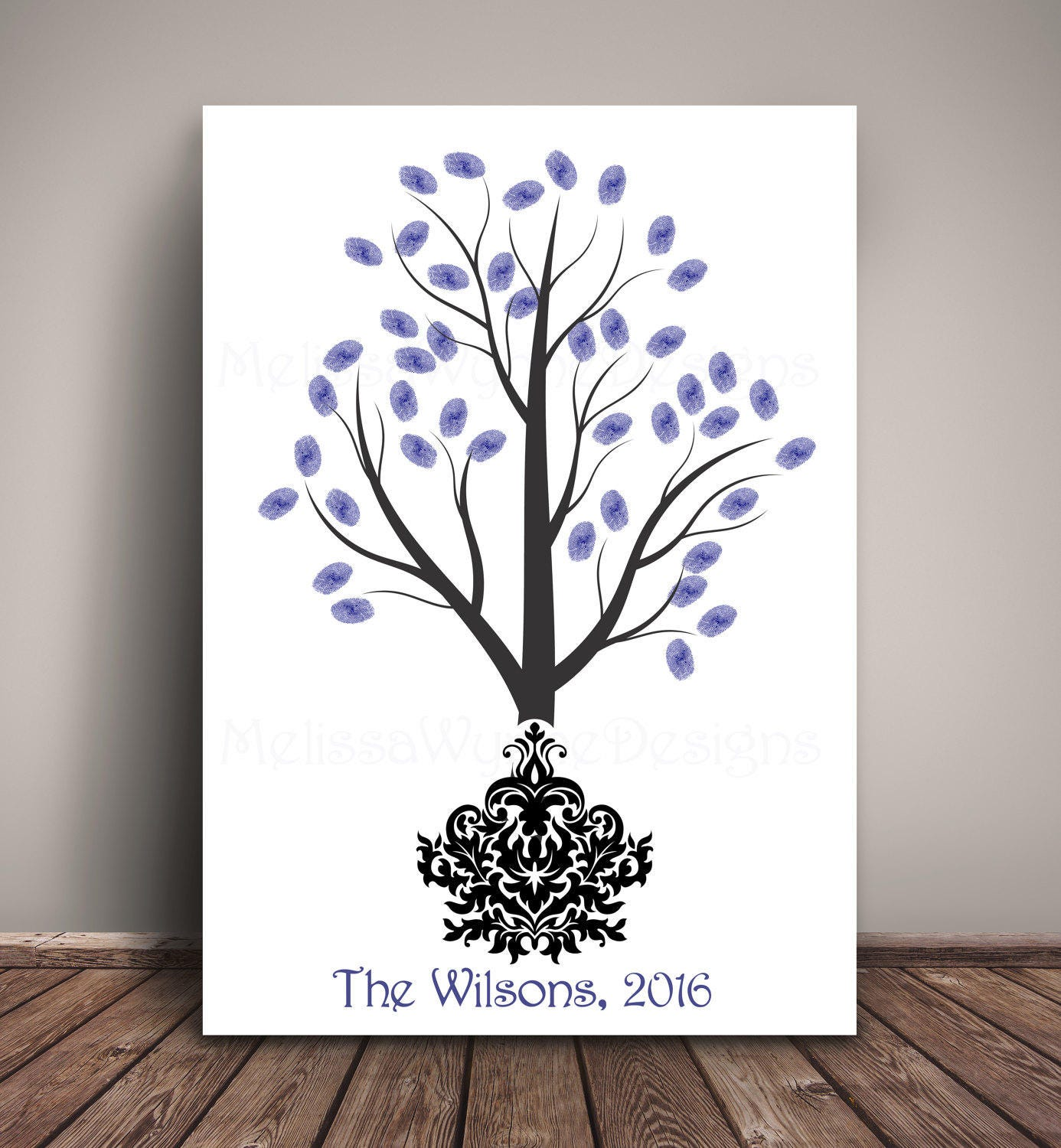 thumbprint tree wedding guest book by melissawynnedesigns on etsy