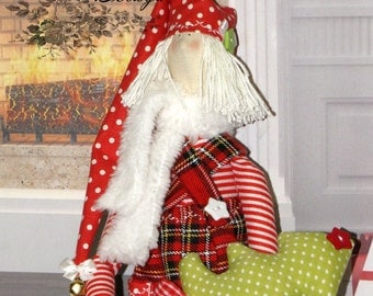 Tilda doll. Cloth doll. Christmas Elf. Christmas doll. Christmas Tilda doll. Christmas Elves.