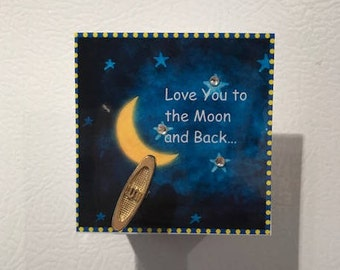 Love You to the Moon and Back musical magnet