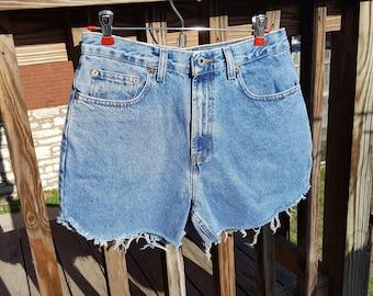 1990's High Waist GAP Vintage Shorts Medium Wash