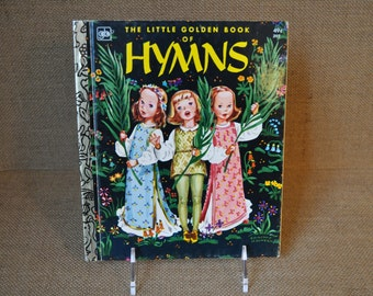 """Vintage """"The Little Golden Book of Hymns"""" Classic Children's Book. 1974. Song Book. Great Condition."""