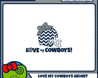 Football Helmet SVG Cowboys SVG Chevron SVG Bow Monogram svg svg files cricut files silhouette files digital cut files svg cut files