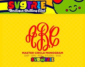 Master Circle SVG Master Circle Monogram Monogram Letters SVG Commercial Free Cricut Files Silhouette Files Digital Cut Files