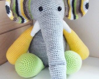 Gehaakte olifant - Otto - Kies uw eigen kleuren