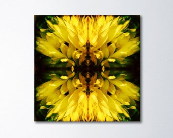 Large Abstract Art, Modern Photography, Surreal Photography On Canvas, Yellow Canvas Art, Abstract Flower Photography, Large Art, Yellow Art