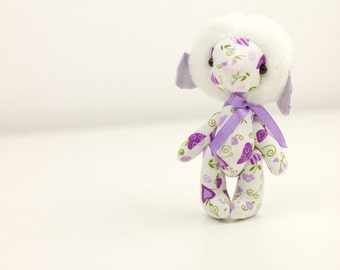 toy sheep lamb stuffed fabric animal handmade toy gift child game