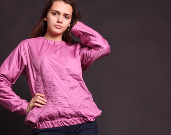 Bomber pink with embroidery, size 44 m