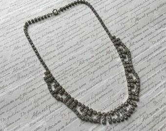 Diamante Vintage Necklace - Circa 1950s
