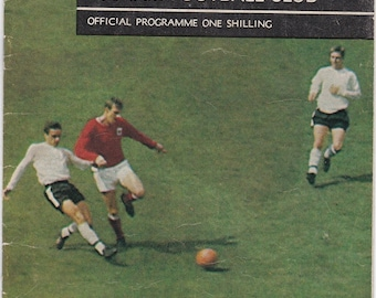 Vintage Football (soccer) Programme - Fulham v Macclesfield Town, FA Cup, 1967/68 season