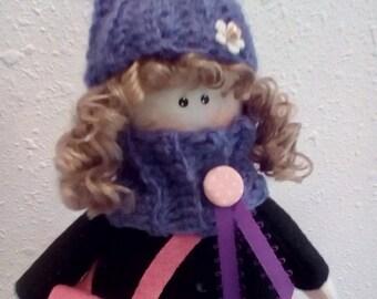 Handmade Textile Doll Cloth doll Decorative Doll OOAK Doll