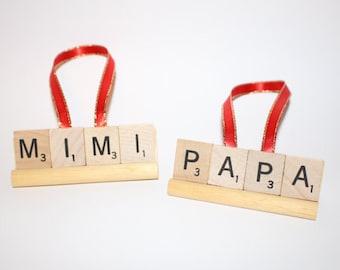 Mom, Grandma, Mimi, Mimi Ornament, Christmas Ornament, Mimi Gift, Nana, Nana Gift, Nana Ornament, Mommy, Grammy, Scrabble Ornament, Grammy