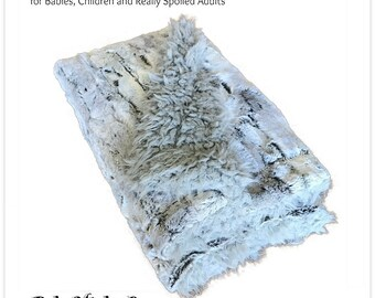 Worlds Softest Minky Cuddle Fur Blanket - Reversible - Gray Tones with Soft Gray Fleece  Minky Cuddle Fur All Sizes and Colors
