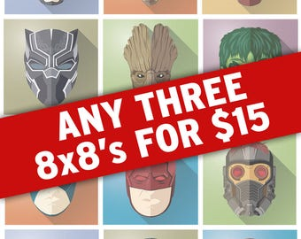 Any 3 8x8 prints for 15 dollars