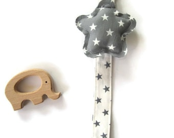 Pacifier Forceps-Baby Chupetero-newborn-pacifier with star-baby gift-pacifier-Pacifier Clip
