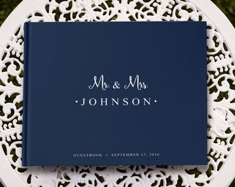 Navy Wedding Guest Book, Navy Guest Book, Something Blue Guest Book, Navy Blue Guest Book, Navy Blue Wedding, GB 008