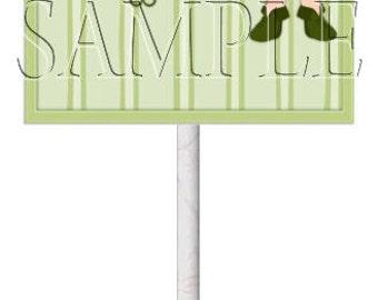 St. Patrick's Day Girl Blonde Lollipop Covers,Digital Download,DIY Printable,Instant Download