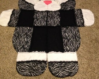 Kitty Rag Quilt/wall hanging/rug