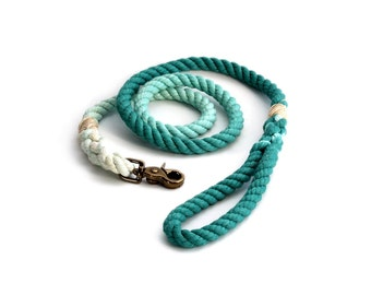 4 FT Teal Ombre Rope Dog Leash