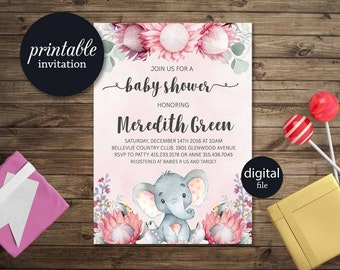 girl baby shower invitation  etsy, Baby shower invitations