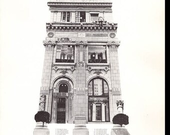 Ornament in Architecture: A Mapped Walking Tour in the Financial District of San Francisco by Sally B. Woodbridge, map, 33 buildings (25992)