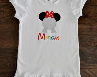 Epcot Minnie Applique Shirt