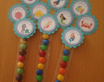 Mermaid / Under the Sea Personalised Lolly Tubes