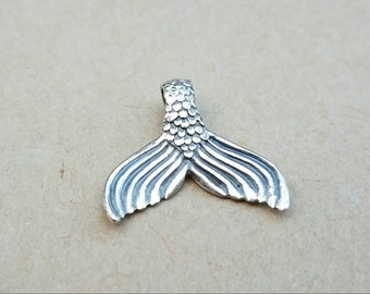 Small, Sterling Silver Mermaid Tail Pendant Charm, Mermaid Charm, Mermaid Tail, Mermaid Jewelry, Ocean Jewelry, Silver Mermaid Pendant