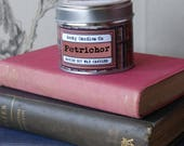 Petrichor Candle -  Earthy Candle, Soil fragrance, Book Candle. Who Candle. Soy Candles UK. Soy Candle. Geeky Gifts. Candles.