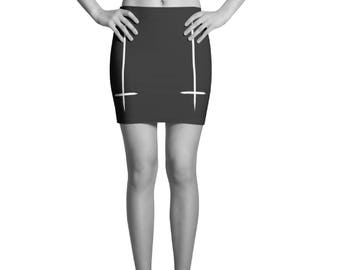 Antichrist Black Mini Skirt, Witch clothing, Gothic clothing