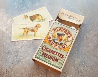 Vintage Players cigarette pack - 1950's cigarette packet, Players Navy Cut, vintage cigarettes, tobacciana, stage props, british cigarettes