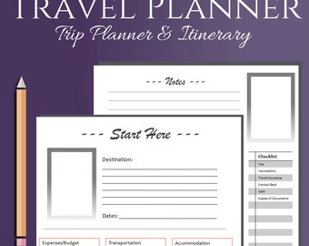 Travel Planner and Itinerary List for Vacation, Road Trips, and more!