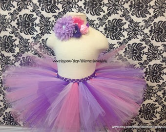 Pink Purple Tutu Skirt, Pink Tutu, Purple Tutu, Girls Pink and Purple Tutu Skirt, Easter Tutu Skirt, Spring Tutu, Toddler Tutu, Cake Smash