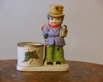 Jasco Christmas Caroler Votive Candle Holder (1978)
