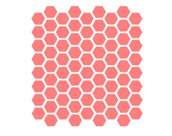 Honeycomb Pattern Stencil, Honeycomb Cookie Stencil, Honeycomb Cake Stencil, Honeycomb Fondant Cookie, 5.5 x 5.5, Hexagon Cookie Stencil