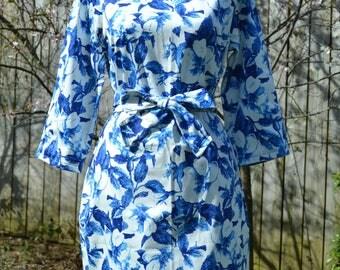Handmade Blue Flower Dress