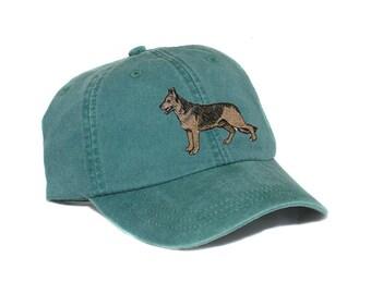 German Shepherd Dog embroidered hat, baseball cap, dog lover gift, pet mom cap, dog, dad hat, mom, dog agility, dog lover hat