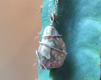 Wire Wrapped Paua Shell