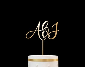 Customized Wedding Cake Topper Initials Personalized Cake Topper for Wedding, Custom Personalized Wedding Cake Topper, Monogram Cake Topper