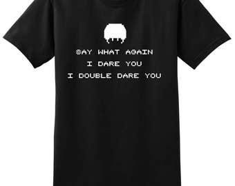 Pulp Fiction 8 Bit - Say what again I Dare You T-Shirt - Tarantino Shirt - Travolta Shirt - Samuel Jackson Shirt - Pulp Fiction Shirt