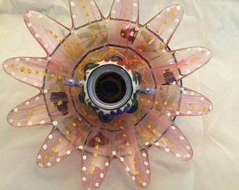Marilou Glass Garden Flower Art Sun Catcher
